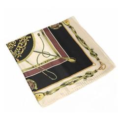 Chaîne noire - Foulard carré en 100% soie (55cmx55cm)