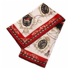 Carrosse royal – Foulard carré 100% soie, 90 x 90cm, bordeaux