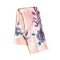 Ailes d'ange - Foulard carré 100% soie, 110 x 110cm, chair