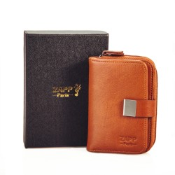 Etui porte-clés multifonctions en cuir véritable 6 crochets à clés et avec poches internes pour votre monnaie