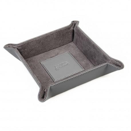 'Le petit gourmand' Vide poche en cuir grainé (couleur : gris)